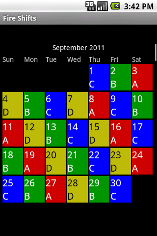 19 A B C 7 Day Rotation 4 Days Off Then 6 20 D Custom
