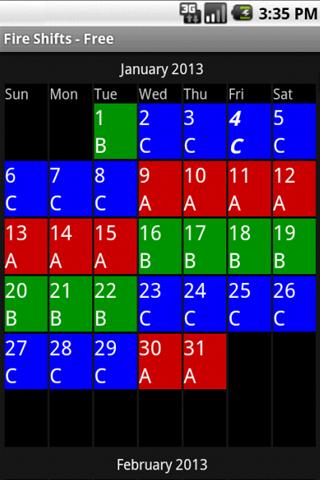 fire shift schedule