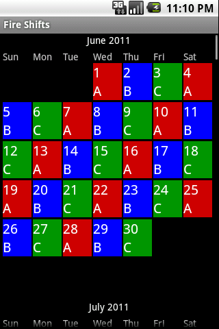 Firefighter Shift Calendar 2020 Fire Shifts | Fire Fighter and EMS calendars for Android & iOS